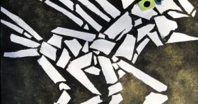 Nightmare Horse Painting: Bony Mosaic Look