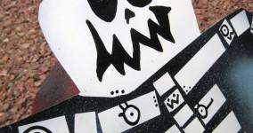 Mutant Skeletal Bat Art: Creepy Cicero Metal Yard Art