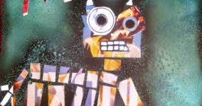 Moo Cow Collage: Upcycled Album Cover