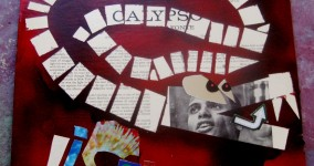Snake Hiss Upcycled Art Collage: Harry Belafonte Album Back Cover