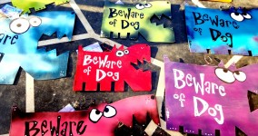 beware of dog custom signs
