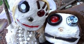 Custom Jumbo Voodoo Dolls: Lucky Wedding Voodoo Doll Couples and Singles