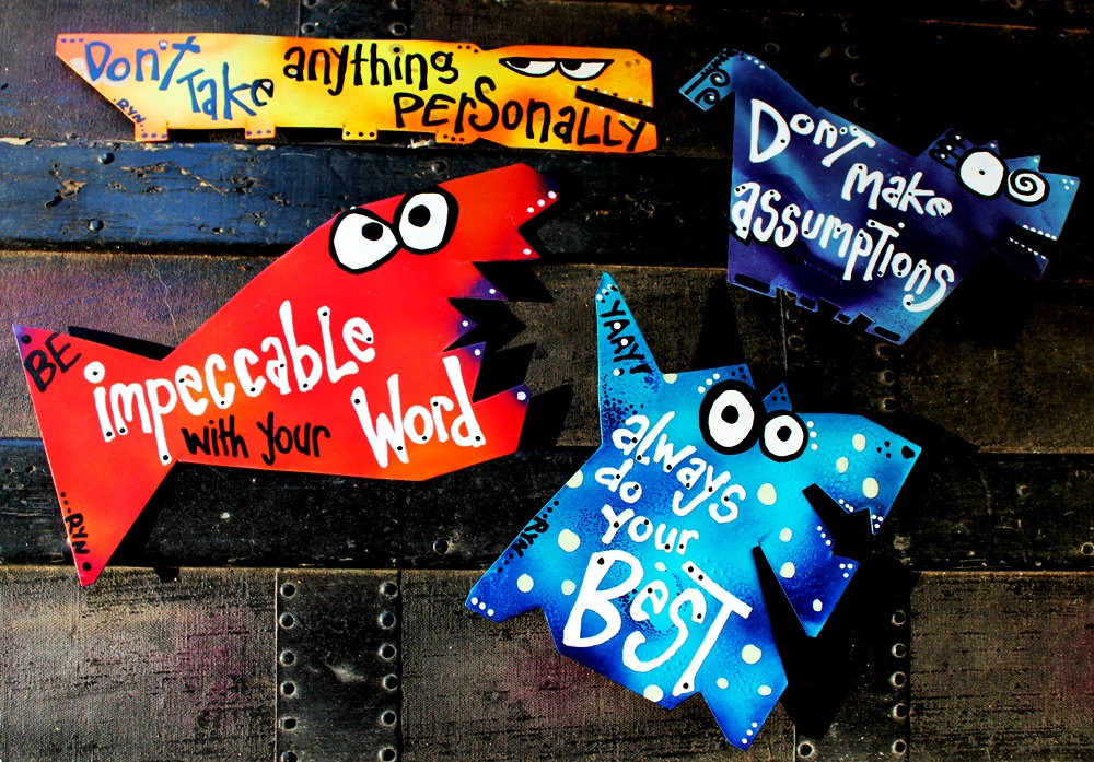 inspirational magnets four agreements