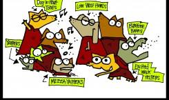 dog cartoonski: choir