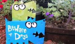 Double Dog 3-D Sign: Metal Yard Art