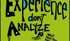 rynski quoteski: experience don't analyze
