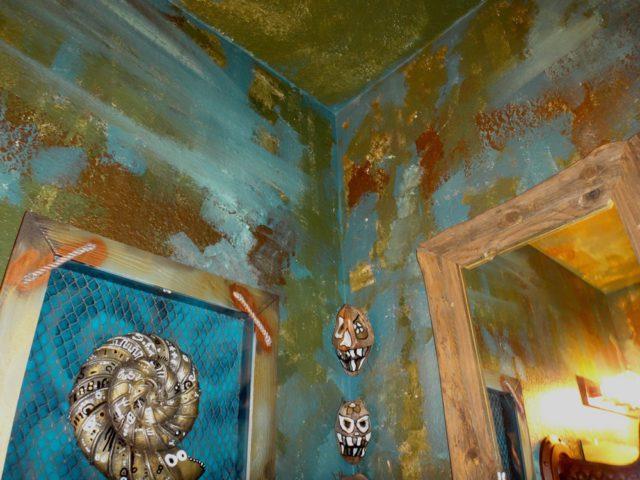 bathroom painted ceiling