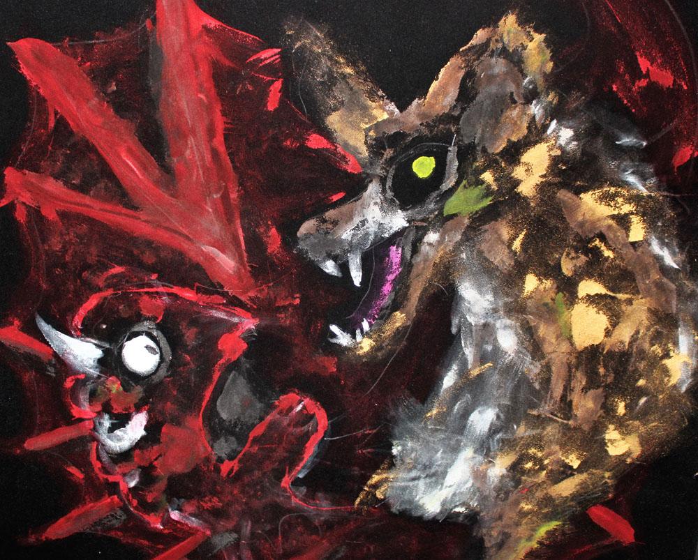 sawyer chasing demons velvet grief painting